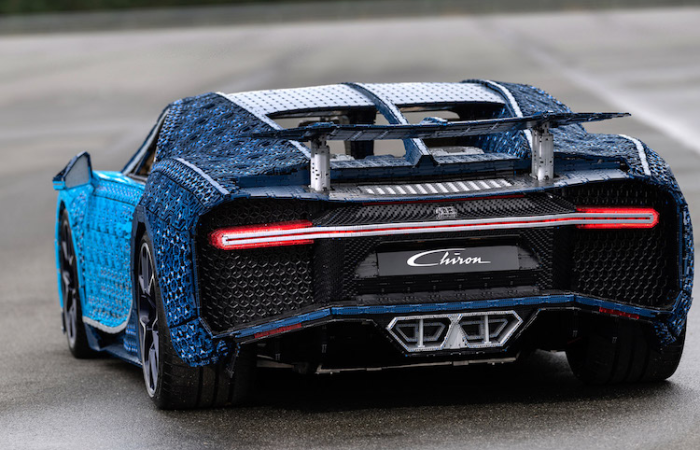 Bugatti Chiron LEGO car back view
