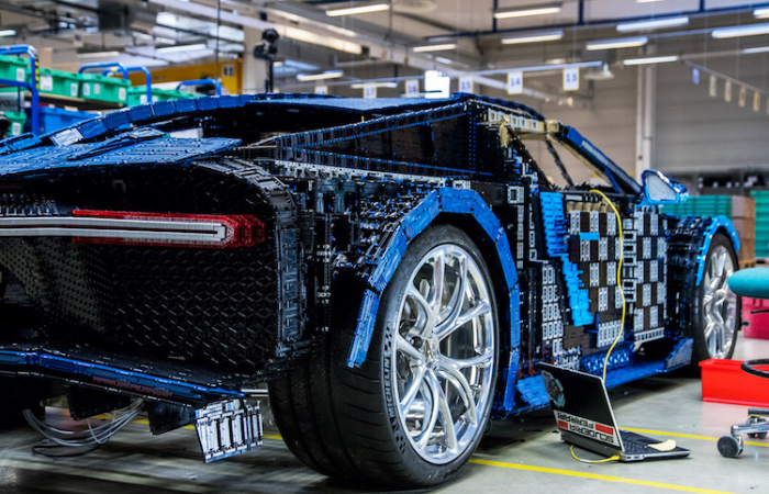 Bugatti Chiron LEGO car under construction