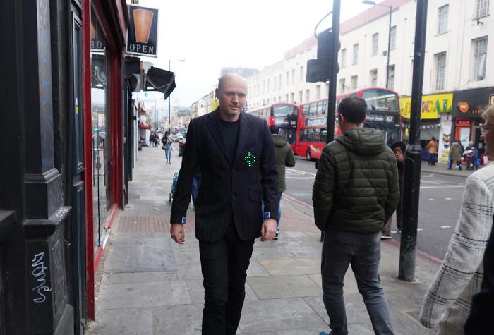 Dominic Wilcox wearning Directing Jacket