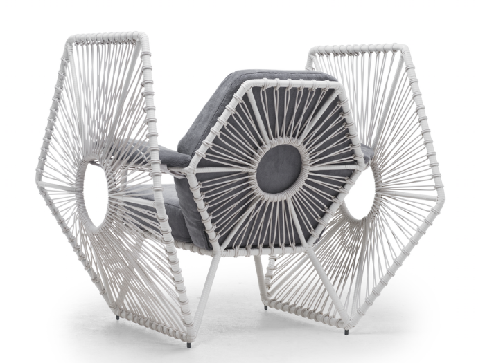 Imperial TIE Fighter Wings Easy Armchair star wars furniture solo white