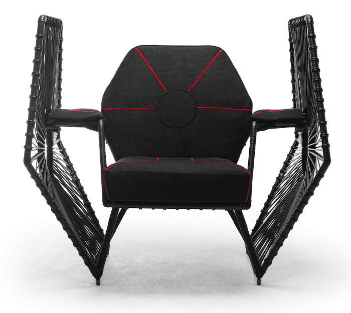 Imperial TIE Fighter Wings Easy Armchair star wars furniture solo