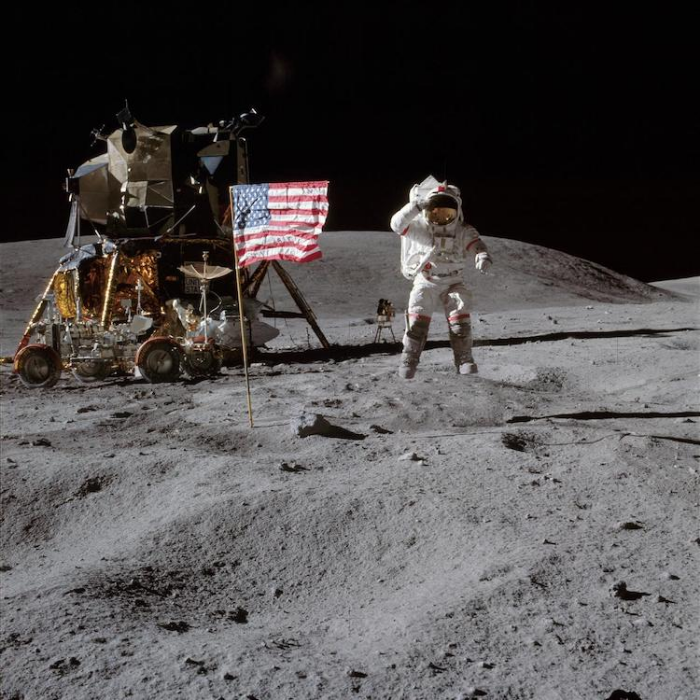 NASA moon mission photo