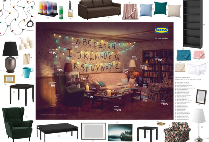 Stranger Things living room recreated by IKEA