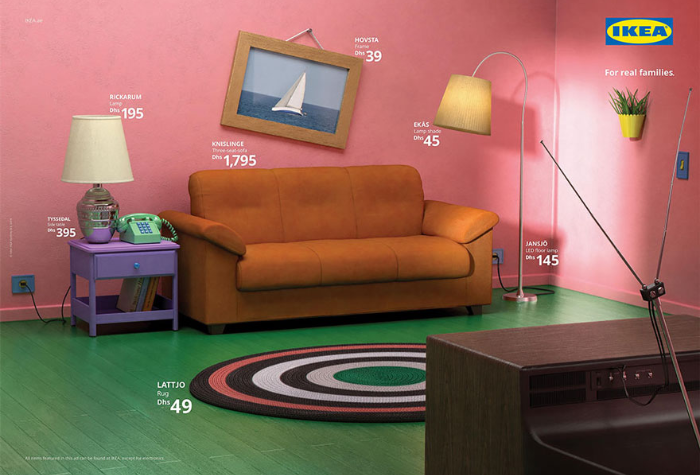 The Simpsons living room recreated by IKEA