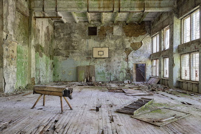 abandoned places old gymnasium