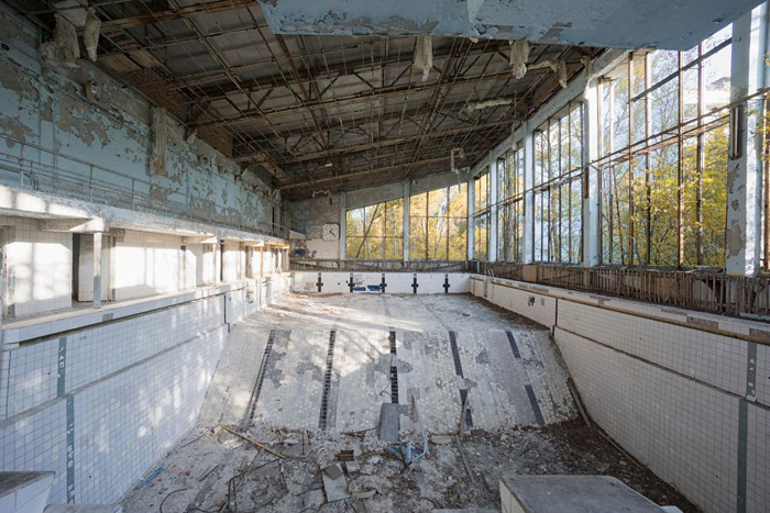 abandoned places shattered ceiling