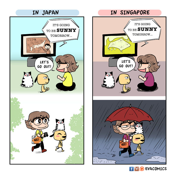 accurate weather forecasts comics japan cultural differences by evacomics