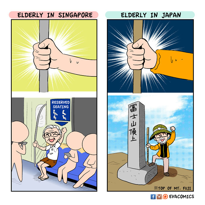 active elderly comics japan cultural differences by evacomics