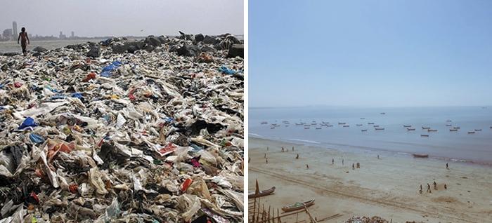 afroz shah clean mumbai beach