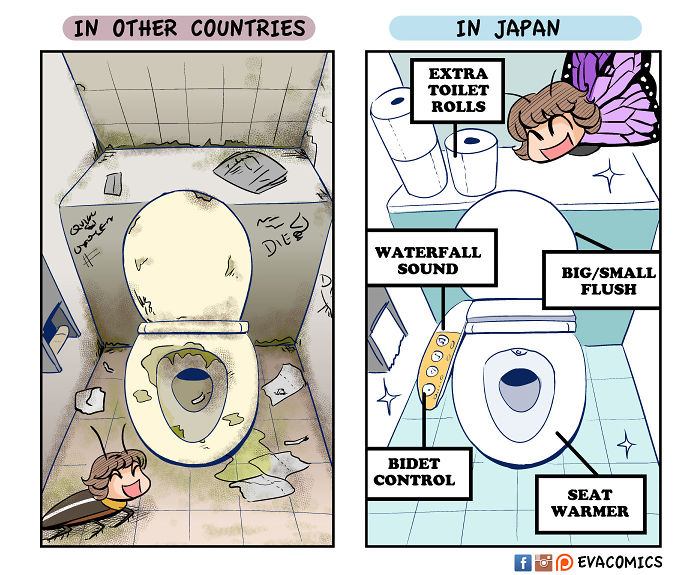 amazing clean toilets comics japan cultural differences by evacomics
