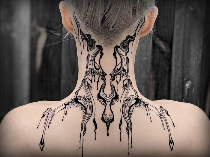 amazing neck tattoo designs