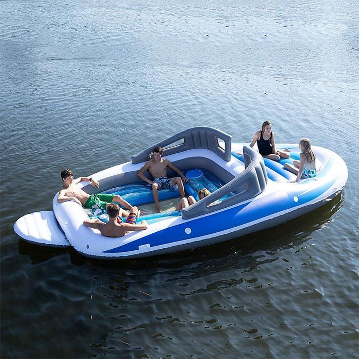 amazon 6-person inflatable boat island