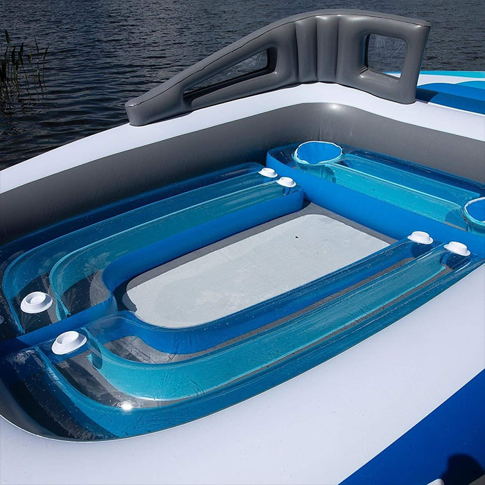 amazon inflatable bench 6-person boat island