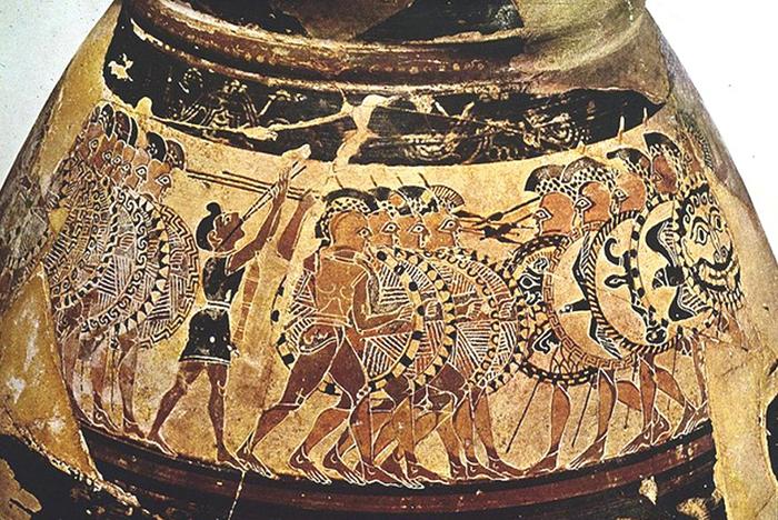 ancient vase shield left hand