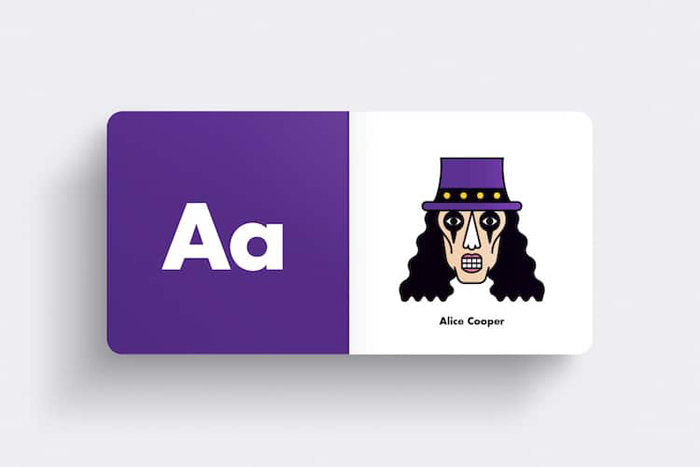 andrew morgan rock alphabet book alice cooper