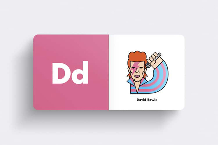 andrew morgan rock alphabet book david bowie