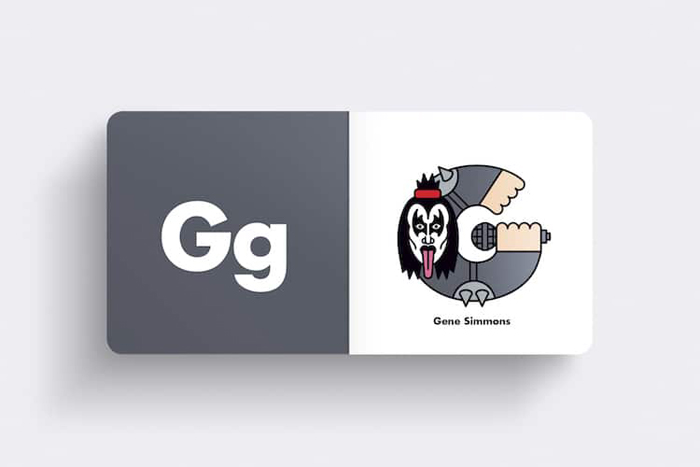andrew morgan rock alphabet book gene simmons