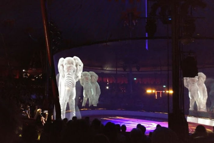 animal holograms circus show cruelty-free