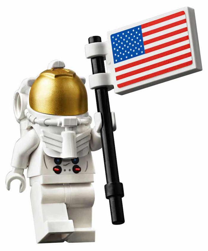 apollo 11 lunar lander lego set astronaut us flag