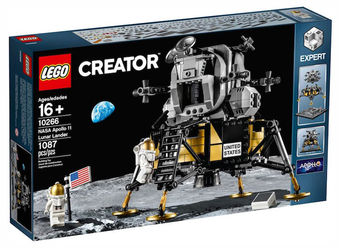 apollo 11 lunar lander lego set collectible