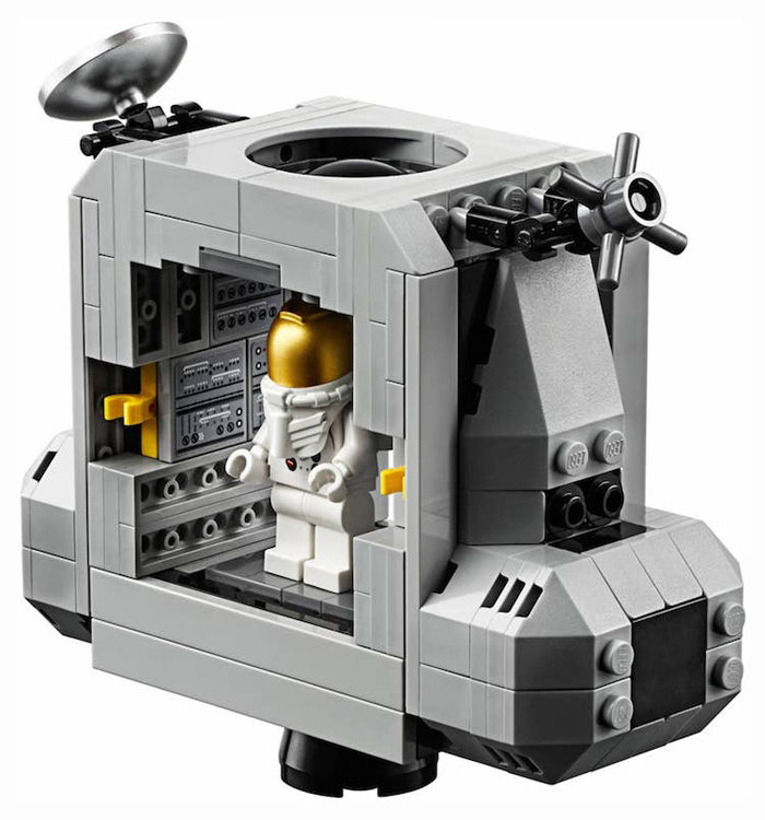 apollo 11 lunar lander lego set main body