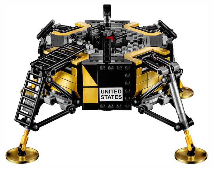 apollo 11 lunar lander lego set rover landing pads