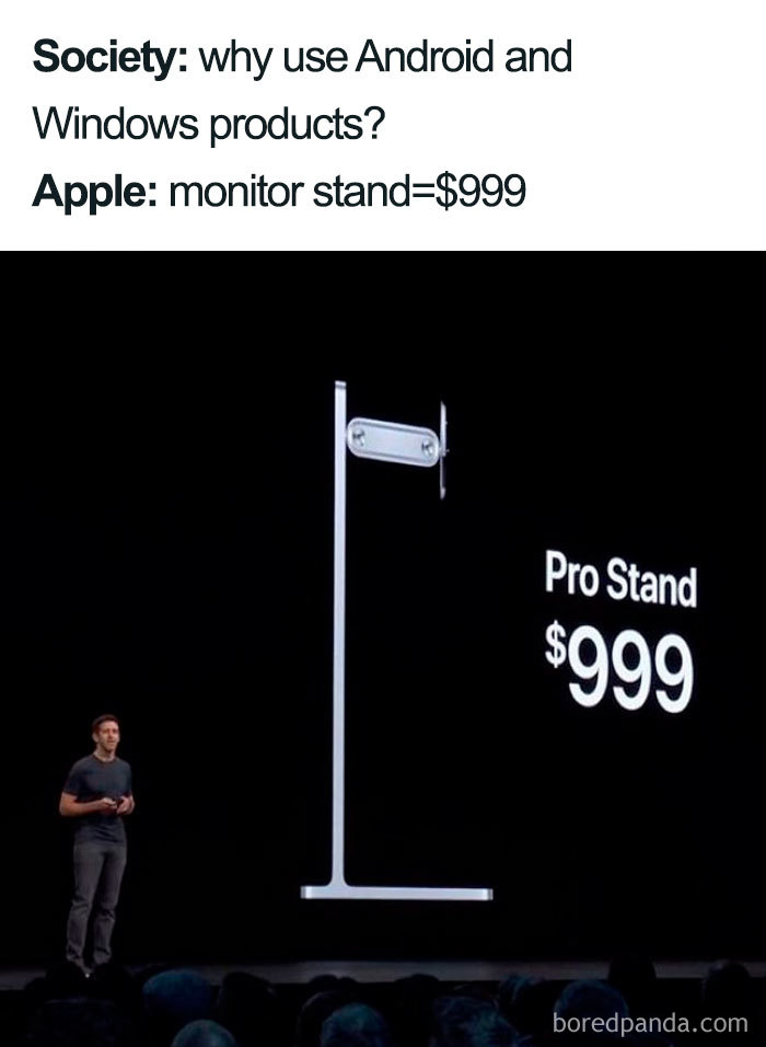 apple expensive monitor stand