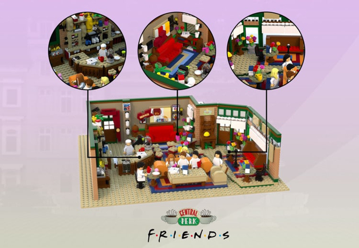 aymeric fievet central perk coffee shop lego ideas