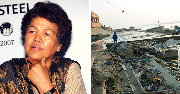 bachendri pal cleans ganges river