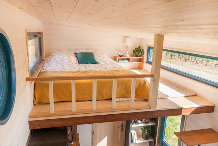 baluchon tiny house valhalla bedroom upper deck