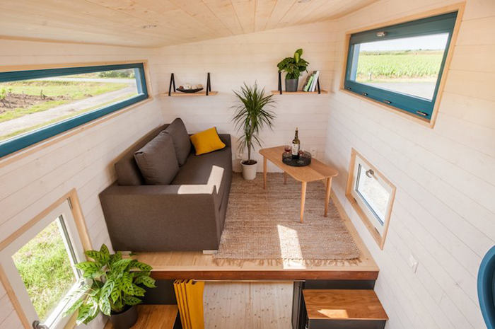 baluchon tiny house valhalla lofted living room