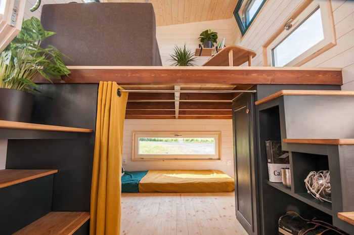 baluchon tiny house valhalla lower bedroom