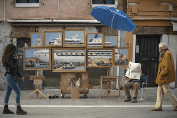 banksy venice in oil