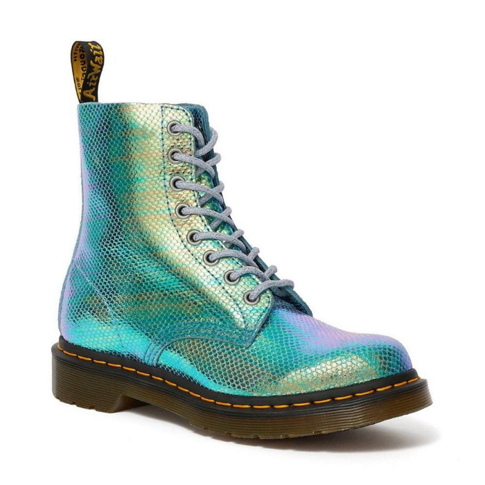 blue variant doc martens iridescent 1460 pascal and holly boots
