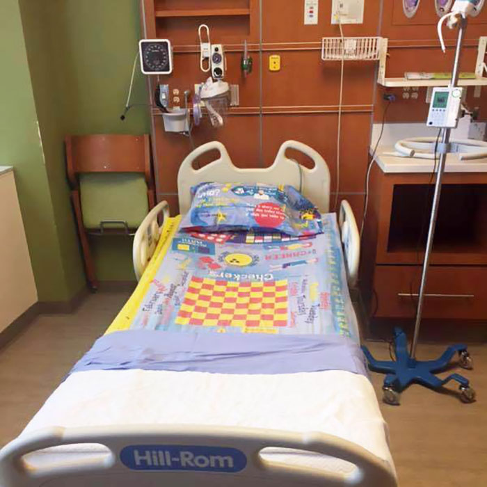 board game bed sheets children hospital