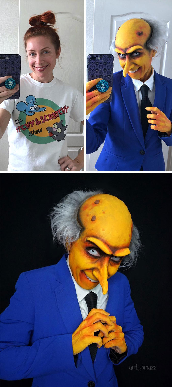 brenna mazzoni cosplay mister burns