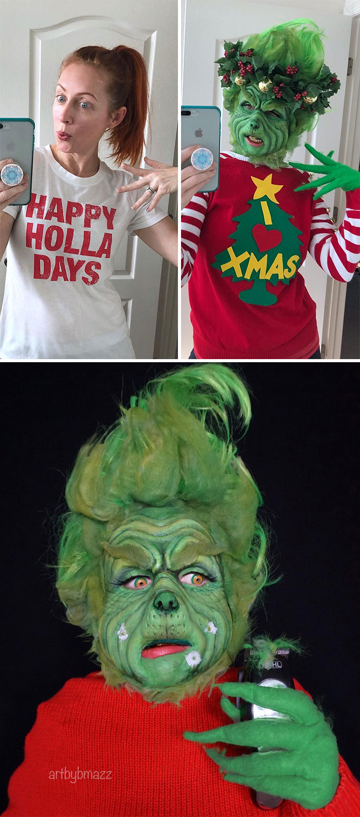 brenna mazzoni epic cosplay transformations grinch
