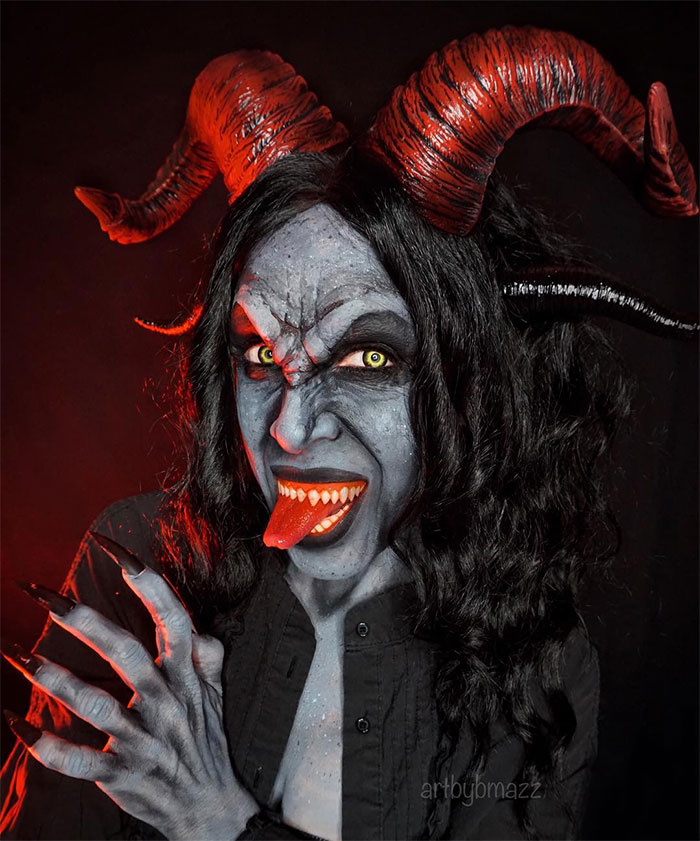 brenna mazzoni epic cosplay transformations krampus