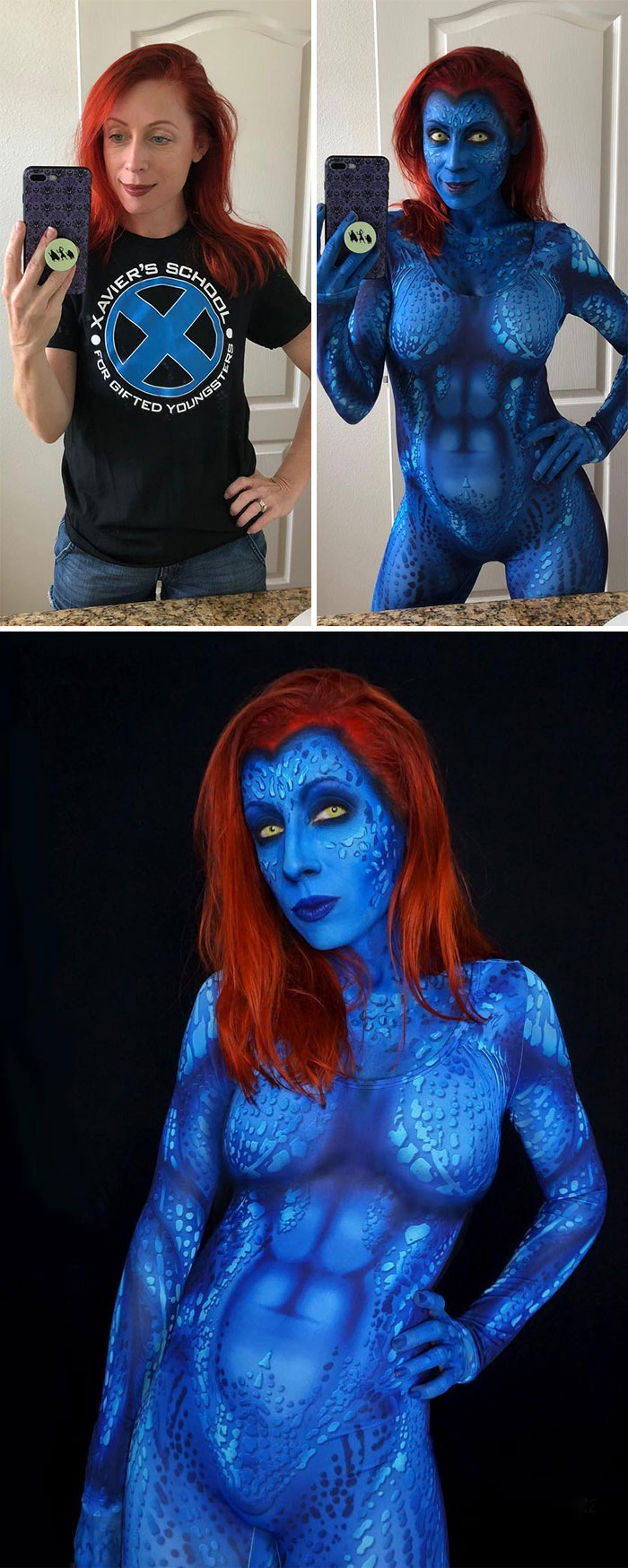 brenna mazzoni epic cosplay transformations mystique