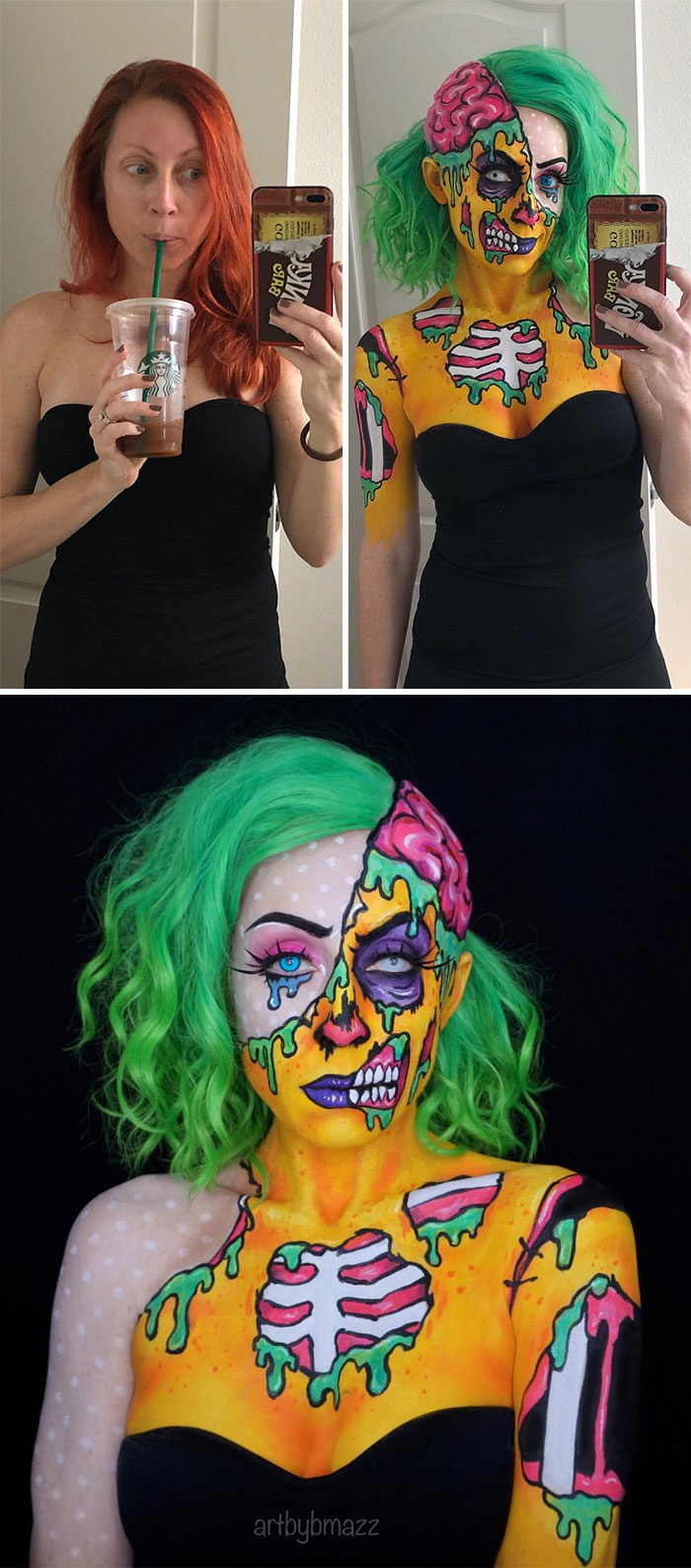 brenna mazzoni epic cosplay transformations pop art zombie