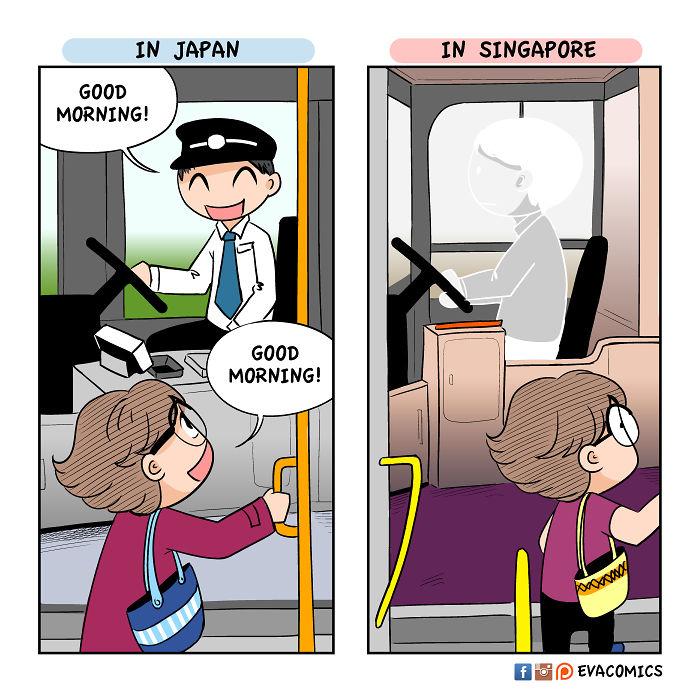 bus drivers comics japan cultural differences by evacomics