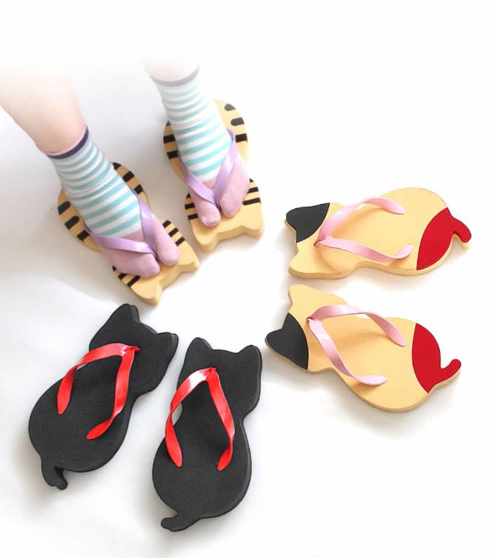 cat-shaped sandals nara getaya