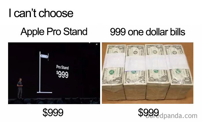 choose mac pro stand 999 bills