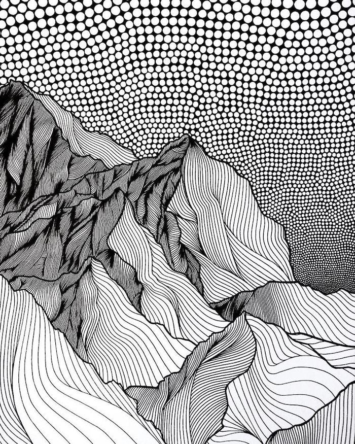 christa rijneveld pointillist line drawings stunning