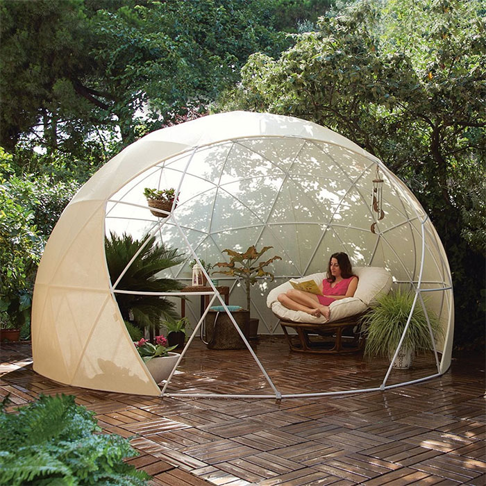 clear greenhouse dome garden igloo