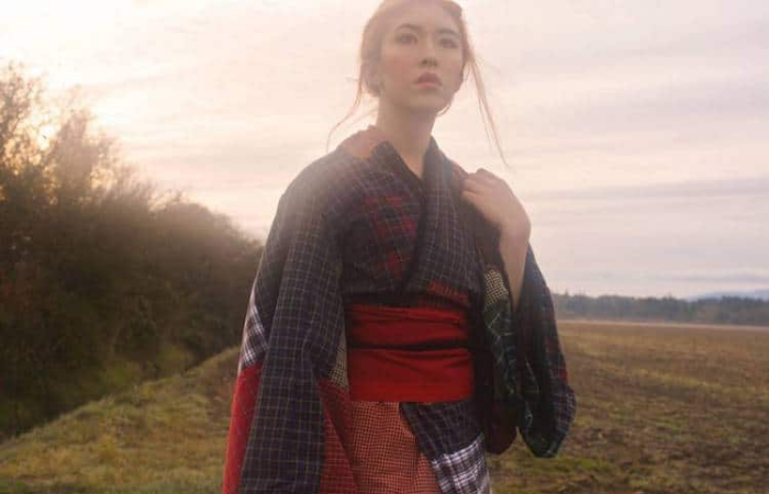 closeup handmade kimono maya caulfield