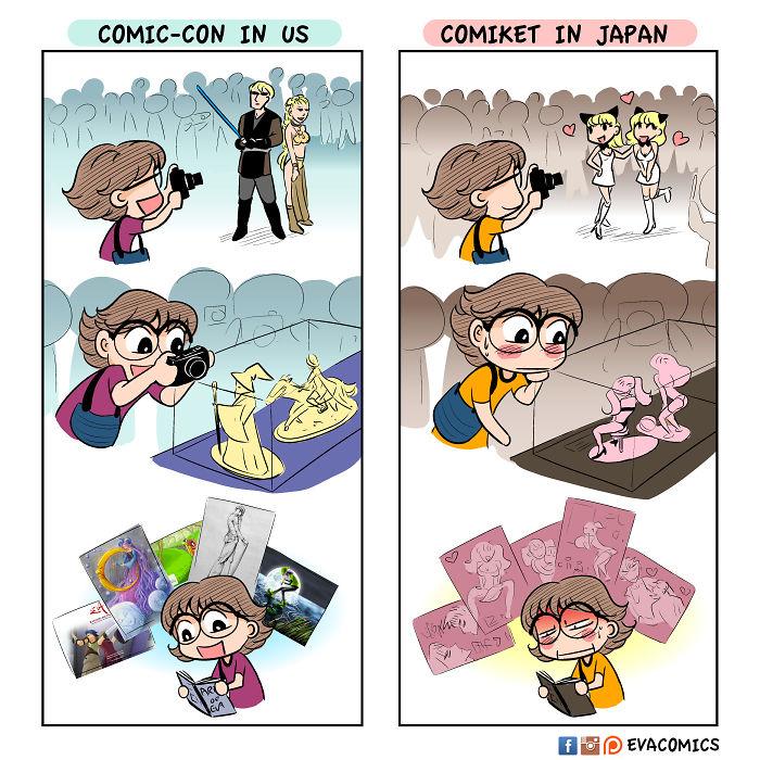 comic cons comics japan cultural differences by evacomics
