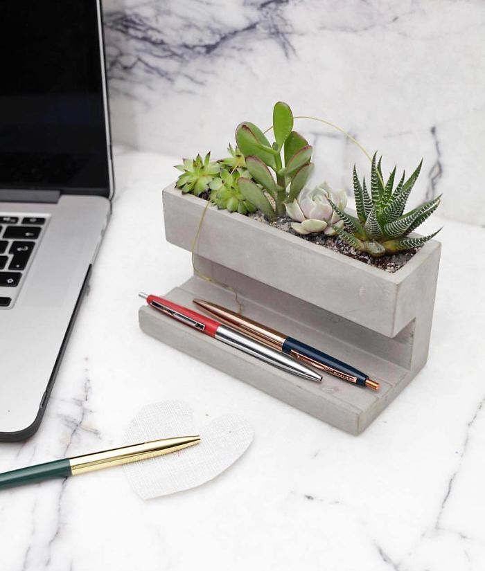 concrete desktop planter unique furniture designs