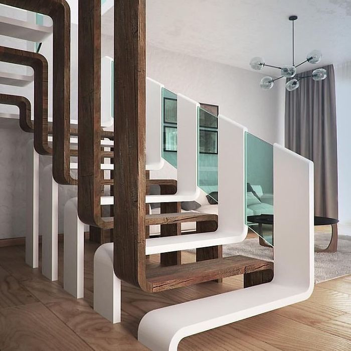 contemporary stairs unique furniture designs