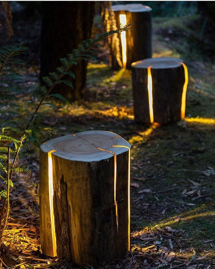 cracked log lamp unique furniture designs